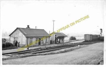 Cleobury Town Railway Station Postcard. Cleobury Mortimer - Stottesdon. (1)