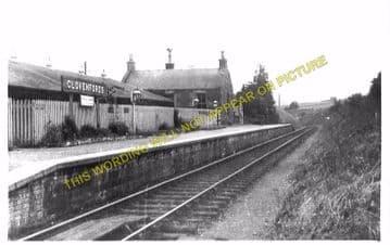 Clovenfords Railway Station Photo. Galashiels - Thornilee. Peebles Line. (2)