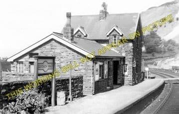Clydach Railway Station Photo. Gilwern - Brynmawr. Abergavenny to Beaufort. (1)..