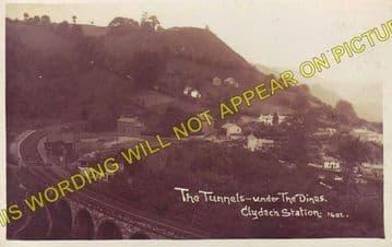 Clydach Railway Station Photo. Gilwern - Brynmawr. Abergavenny to Beaufort. (2)