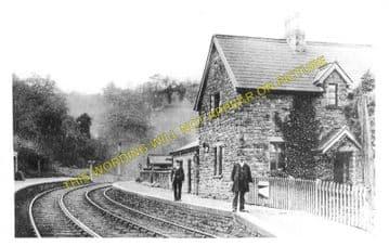 Clydach Railway Station Photo. Gilwern - Brynmawr. Abergavenny to Beaufort. (3)