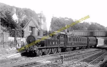 Coalport East Railway Station Photo. Madeley, Stirchley & Oakengates Line. (2)