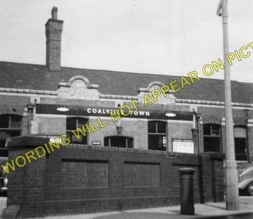 Coalville Town Railway Station Photo. Bagworth & Ellistown- Swannington. (4)
