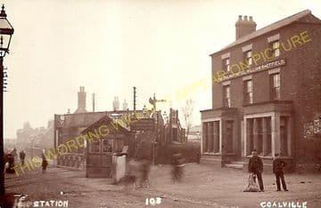 Coalville Town Railway Station Photo. Bagworth & Ellistown- Swannington. (6)