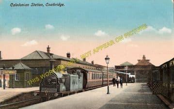 Coatbridge Railway Station Photo. Caledonian Railway. Glasgow Area. (1)