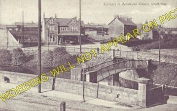 Coatbridge Railway Station Photo. Caledonian Railway. Glasgow Area. (2)