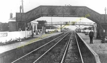Cobbinshaw Railway Station Photo.  Harburn - Auchengray. Caledonian Railway. (1)..