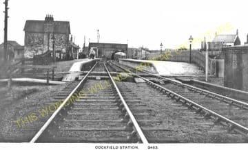 Cockfield Railway Station Photo. Barnard Castle - Evenwood. (2)