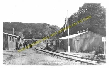 Codford Camp Railway Station Photo. Military Army Camp. Great Western Rly. (1)..