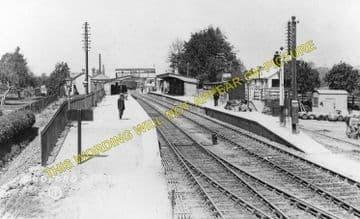 Codford Railway Station Photo. Heytesbury - Wylye. Westbury to Salisbury. (1)..