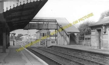 Codford Railway Station Photo. Heytesbury - Wylye. Westbury to Salisbury. (2)