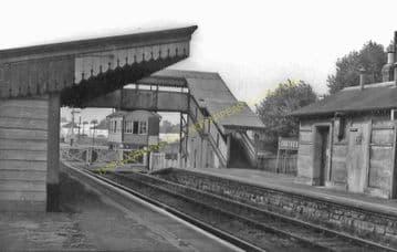 Codford Railway Station Photo. Heytesbury - Wylye. Westbury to Salisbury. (7)