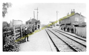 Coldham Railway Station Photo. March - Wisbech. Great Eastern Railway. (4)