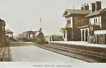 Collingham Railway Station Photo. Newark - Swinderby. Lincoln Line. (2)..