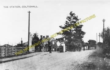 Coltishall Railway Station Photo. Wroxham - Buxton Lamas. Aylsham Line. (1)..