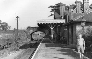 Coltishall Railway Station Photo. Wroxham - Buxton Lamas. Aylsham Line. (2)