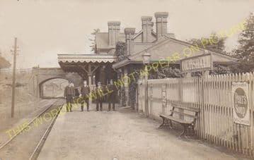 Coltishall Railway Station Photo. Wroxham - Buxton Lamas. Aylsham Line. (4)