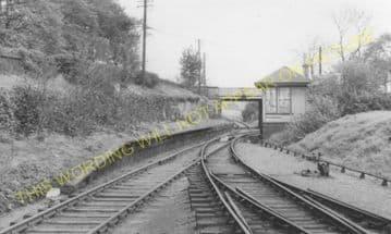Commonhead Railway Station Photo. Airdrie - Coatbridge. North British Rly. (1)..