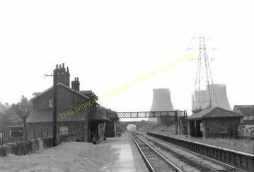 Connah's Quay Railway Station Photo. Flint - Shotton. Chester Line. L&NWR. (3)