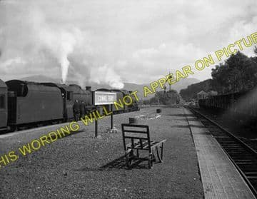 Connel Ferry Railway Station Photo. Taynuilt to Oban and Benderloch Lines. (5)