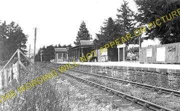 Conon Railway Station Photo. Muir of Ord - Dingwall. Highland Railway. (1)..
