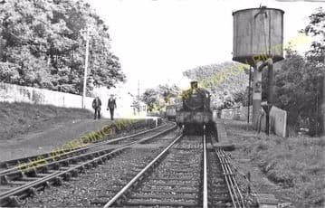 Conwil Railway Station Photo. Bronwydd Arms - Llanpumpsaint. Carmarthen Line (2)
