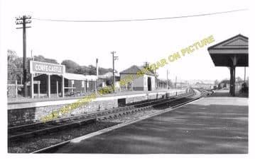 Corfe Castle Railway Station Photo. Wareham to Swanage Line. L&SWR. (17)
