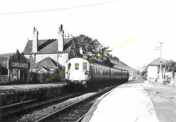 Corfe Castle Railway Station Photo. Wareham to Swanage Line. L&SWR. (19)