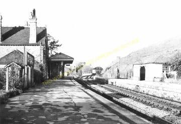 Corfe Castle Railway Station Photo. Wareham to Swanage Line. L&SWR. (20)