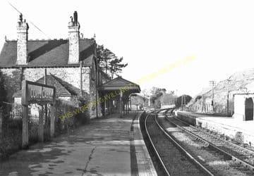 Corfe Castle Railway Station Photo. Wareham to Swanage Line. L&SWR. (21)