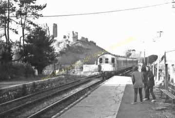 Corfe Castle Railway Station Photo. Wareham to Swanage Line. L&SWR. (22)