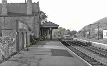 Corfe Castle Railway Station Photo. Wareham to Swanage Line. L&SWR. (24)