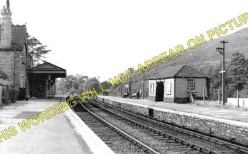 Corfe Castle Railway Station Photo. Wareham to Swanage Line. L&SWR. (3)