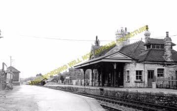 Corfe Castle Railway Station Photo. Wareham to Swanage Line. L&SWR. (6)