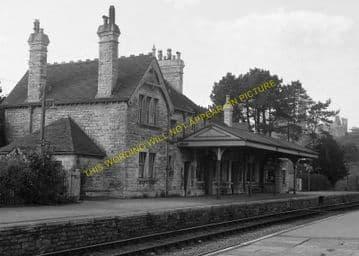 Corfe Castle Railway Station Photo. Wareham to Swanage Line. L&SWR. (7)