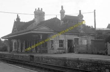 Corfe Castle Railway Station Photo. Wareham to Swanage Line. L&SWR. (8)