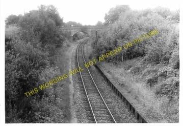 Corfe Mullen Railway Station Photo. Broadstone - Bailey Gate. S&DJR. (1)