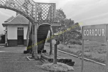 Corrour Railway Station Photo. Rannoch - Tulloch. Fort William Line. (2).