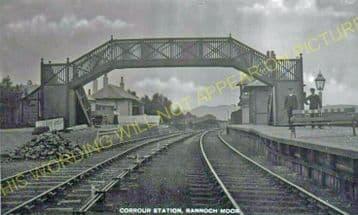 Corrour Railway Station Photo. Rannoch - Tulloch. Fort William Line. (3).