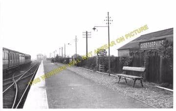 Corstorphine Railway Station Photo. Edinburgh Line. North British Railway. (3)