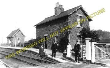 Cottam Railway Station Photo. Leverton - Torksey. Retford to Lincoln Line. (1)