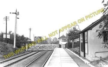 Countesthorpe Railway Station Photo. Wigston - Broughton Astley. Midland Rly (1).