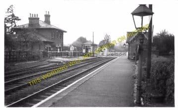 Countesthorpe Railway Station Photo. Wigston - Broughton Astley. Midland Rly (3)