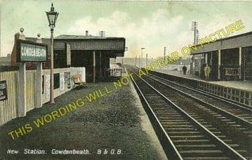 Cowdenbeath Railway Station Photo. Halbeath to Lochgelly and Kelty Lines. (3).