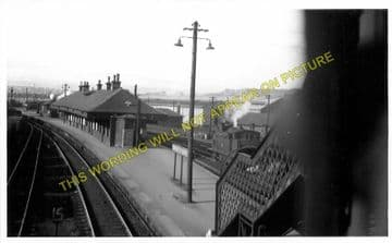 Cowlairs Railway Station Photo. Glasgow - Bishopbriggs. North British Rly. (2)