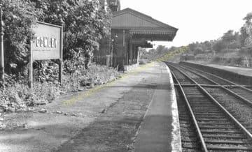 Cowley Railway Station Photo. West Drayton - Uxbridge. Great Western Railway (6)