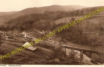Craigellachie Railway Station Photo. Dufftwon to Dandaleith and Aberlour. (1)..