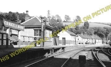 Craigellachie Railway Station Photo. Dufftwon to Dandaleith and Aberlour. (2)