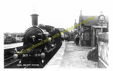 Crail Railway Station Photo. Anstruther - Kingbarns. Elie to Boarhills Line. (2)