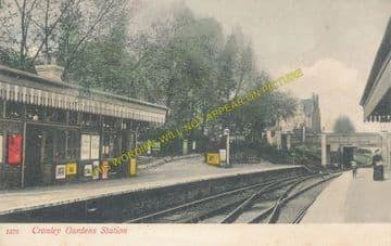 Cranley Gardens Railway Station Photo. Highgate - Muswell Hill. GNR. (12)